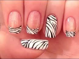zebra pattern nail art classic zebra print nail art
