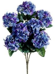 Purple And Blue Flowers Silk Hydrangeas Artificial Hydrangea Flowers Silk Flowers