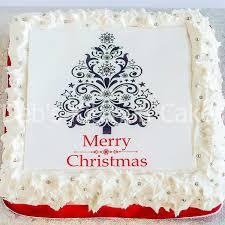 christmas cake topper christmas tree edible icing cake topper