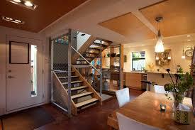 modern minimalist conex box house design with white interior and