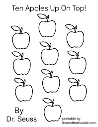 ten apples up on top coloring pages az coloring pages dr suess