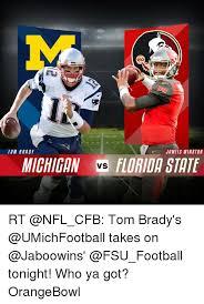 Florida State Memes - patr tom brady jameis winston michigan vs florida state rt tom