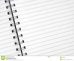 lined paper for writing close up white lined paper in a spiral notepad royalty free stock close lined notepad paper