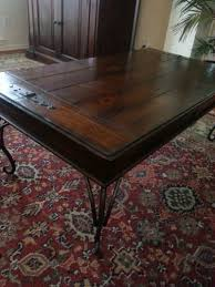 rustic wrought iron and wood coffee table for sale in carrollton