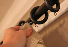 Hanging Rod Pocket Curtains With Rings How To Pimp Out Your Store Bought Curtains