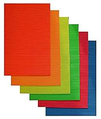 pack of 10 a4 size neon colored corrugated craft paper sheets for