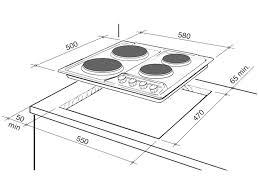 60cm 4 zone electric cooktop deh60sx1 delonghi australia