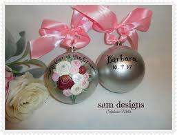 Wedding Ornaments Personalized Hand Painted Wedding Ornaments Personalized Mother Of The