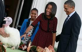thanksgiving turkey pardon president obama and family celebrate thanksgiving through the