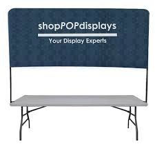 Half Wall Table 6 U0027w Half Wall Table Top Display Banner With Frame Custom Print