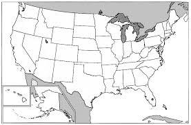 large blank map of usa america unit study dear america