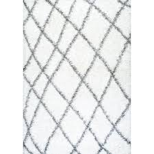 nuloom diamond shag grey 9 ft 2 in x 12 ft area rug ozsg09a