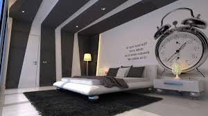 Minimalistic Bed Bedroom Bedrooms Ideas Large Bed Leather Bench Lienar Fireplace
