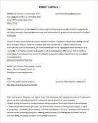 hair stylist resume template hairstylist resume templates free creative hair stylist resume
