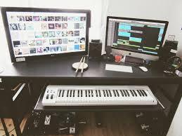 studio keyboard desk music studio desk table with keyboard in built and hidden shelf