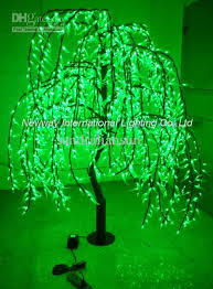 2018 attractive 1 8m green led tree light willow leaves for