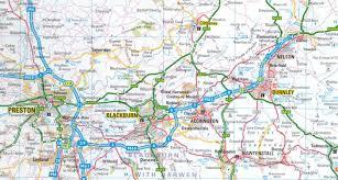 atlas road map regional map of blackburn area grimshaw origins and history