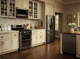 kitchen ideas with stainless steel appliances lg black stainless steel appliances on display lglimitlessdesign