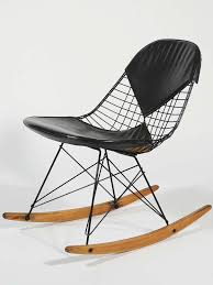 eames navy blue shell herman miller rocking chair 1962 for sale