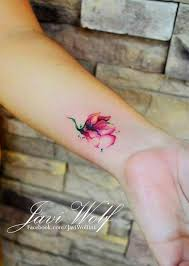 10 beautiful flower tattoos for your wrist watercolour tattoos