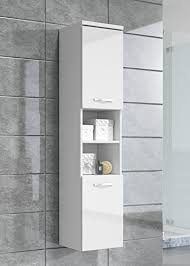 High Gloss Bathroom Furniture Storage Cabinet Paso 160cm Height White High Gloss Storage
