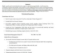 Military Resume Examples by Exclusive Ideas Military Resume Examples 15 Military Resumes Cv