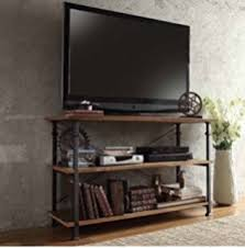 Tv Stands With Bookshelves by Amazon Com Tribecca Home Myra Vintage Industrial Modern Rustic