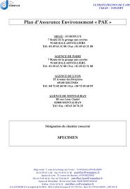 activit des si es sociaux 7010z plan d assurance environnement pae pdf