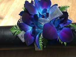 blue orchid corsage prom corsages