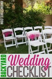 Backyard Wedding Ideas Diy Backyard Wedding Checklist A S Take