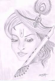 pictures lord krishna pencil drawing images drawing art gallery