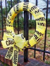 How To Make Halloween Wreaths by Diy Halloween Wreaths Network Blog Made Remade Caution Tape Idolza