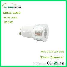 best 5 x gu10 35mm mini led light bulb mr11 gu10 1w 3w small led