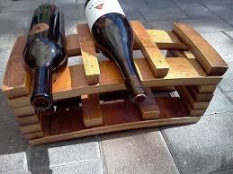 handmade napa barrel stave 6 bottle wine rack by alpine wine