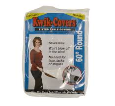 Plastic Fitted Tablecloths Amazon Com Kwik Covers 60