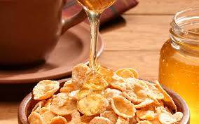 wallpaper flakes honey breakfast stream hd picture image