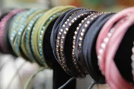 leather rhinestone bracelet images Leather and rhinestone bracelet cuffs flutterby jpg