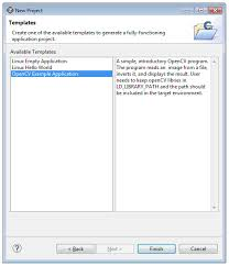 using the opencv template application