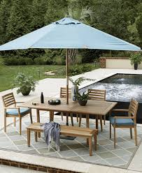 Teak Patio Furniture Closeout Anders Teak Outdoor Dining Collection Created For