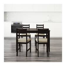 ikea black brown dining table lerhamn table and 4 chairs black brown ramna beige 118x74 cm ikea