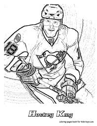 hockey goalie coloring pages nhl worksheets for kids 27 nhl