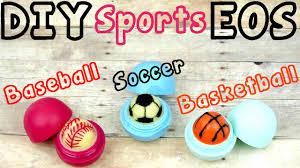 diy eos lip balm sports edition soccer baseball u0026 basketball
