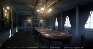 harley wilson ue4 lighting victorian dining room