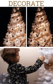 how to decorate a white tree with burlap step by step