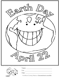 earth day coloring page ginormasource kids