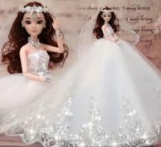 chagne wedding dress change the doll simulation wedding dress is a gift box girl