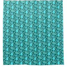 Turquoise Paisley Curtains Turquoise Paisley Shower Curtains Zazzle