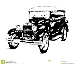 old cars drawings old classic car retro vintage stock illustration image 39941266
