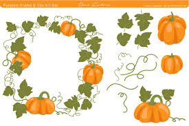 halloween clip art with transparent background pumpkin frame and clip art illustrations creative market