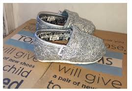 Wedding Shoes Toms Kids Sparkly Glitter Toms Flower Wedding Shoes Silver White